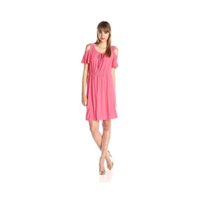 スター Vixen レディース Cold-ショルダー Peasant ドレス, コーラル ソリッド, Medium(海外取寄せ品)