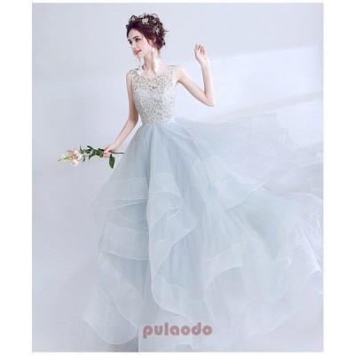 豪華なロングトレーン♪ロングトレーン♪ウェディングドレス♪高級ウエディングドレス格安.お花嫁ドレス結婚式/二次会/パーディ-//花嫁♪