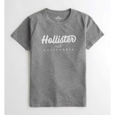 ホリスター  Hollister レディース Tシャツ Applique Logo Graphic Tee グレイ