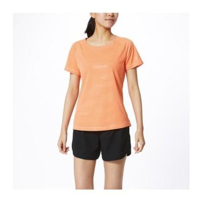 ミズノ公式 ソーラーカットTシャツ レディース シャーベットオレンジ