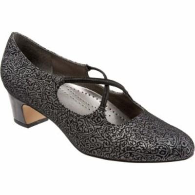 トロッターズ Trotters レディース シューズ・靴 Jamie Black/Silver Brocade Fabric