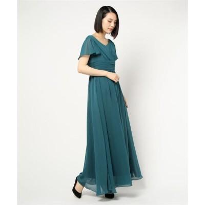 ドレス 【演奏会ドレス】フレアスリーブロングドレス  / 結婚式ワンピース・お呼ばれパーティードレス