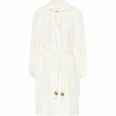 リサ マリー フェルナンデス Lisa Marie Fernandez レディース ワンピース ワンピース・ドレス Poet linen-blend gauze minidress white