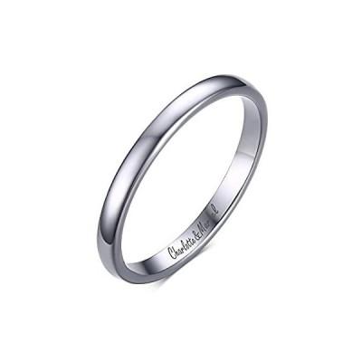 xuanpaiカスタムPersonalized 2mmタングステンカーバイドPlain Polish婚約の約束ウェディングバンドリング