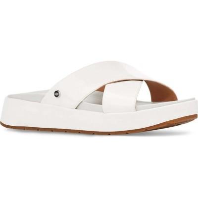 アグ UGG レディース サンダル・ミュール スライドサンダル シューズ・靴 Emily Slide Sandal White Patent Leather