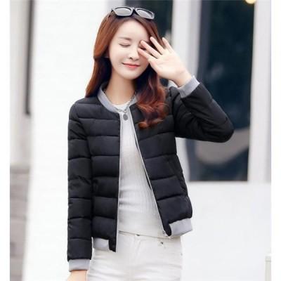 中綿ジャケットレディース冬服ダウンコート着痩せゆったり暖かい中綿コートショートジャケットファスナー厚手
