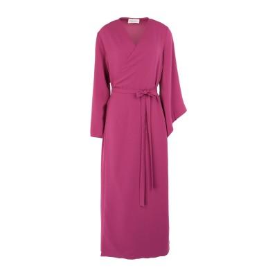 CLAUDIE ロングワンピース&ドレス モーブ 44 ポリエステル 98% / ポリウレタン 2% ロングワンピース&ドレス