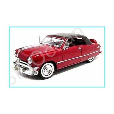 Maisto 1950 Ford Convertible, Red 31681 - 1/18 Scale Diecast Model Toy Car【並行輸入品】