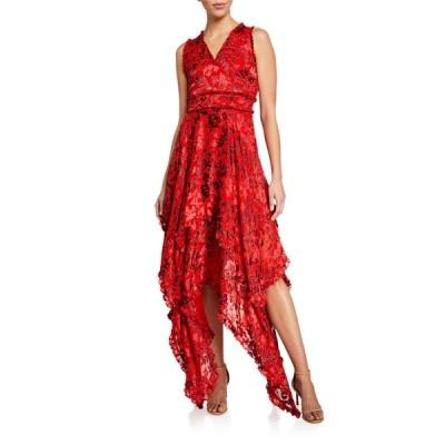 アリス アンド オリビア レディース ワンピース トップス Sammi Double-Layered Handkerchief Dress
