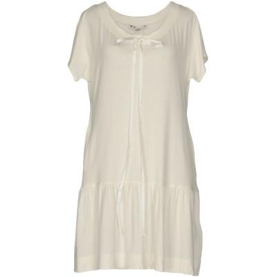 ワイスリー Y-3 ミニワンピース&ドレス ホワイト XS レーヨン 93% / ポリウレタン 7% ミニワンピース&ドレス