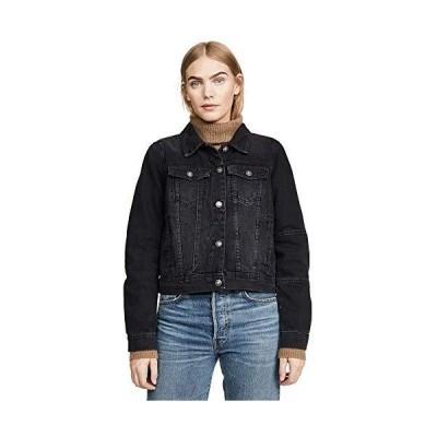 Free People Women's Rumors Denim Jacket, Black, Large