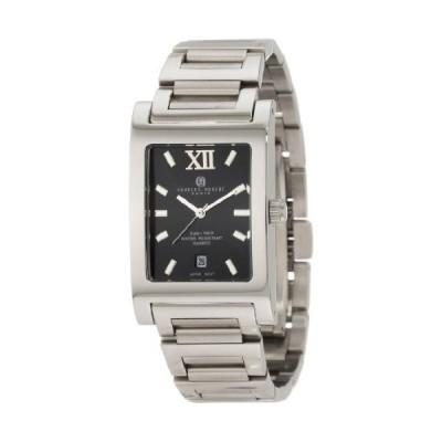 Charles Hubert Rectangular SS Mens Wrist Watch 3667BM 並行輸入品