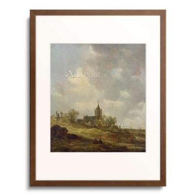 ヤン・ファン・ホーイェン Jan Josephszoon van Goyen 「Village church in a dune landcape. 1646」