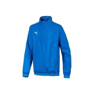 (プーマ)JRウィンドブレーカーシャツ サッカー JRプラクティスピス 655868-02 BLU