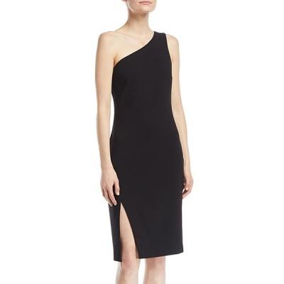 ライクリー レディース ワンピース トップス Helena One-Shoulder Side-Slit Straight Crepe Dress