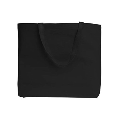 Reusable Heavy Canvas Extra Large Tote Bags for Beach, Grocery Shopping, Travel by TBF Bags (Black, 12)【並行輸入品】