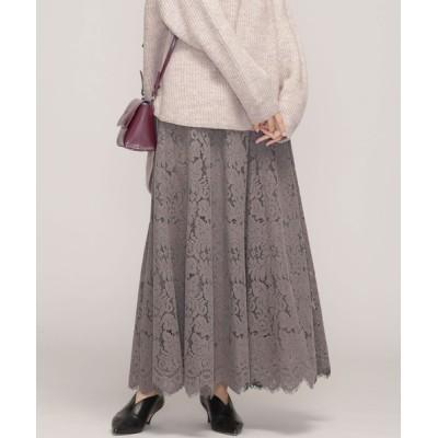 nano・universe / フロッキーレースフレアスカート WOMEN スカート > スカート