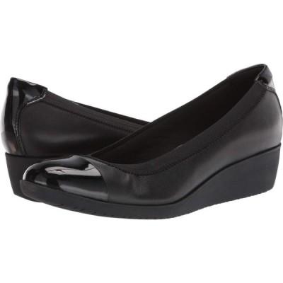 クラークス Clarks レディース ヒール シューズ・靴 Elin Palm Black Leather/Synthetic Patent
