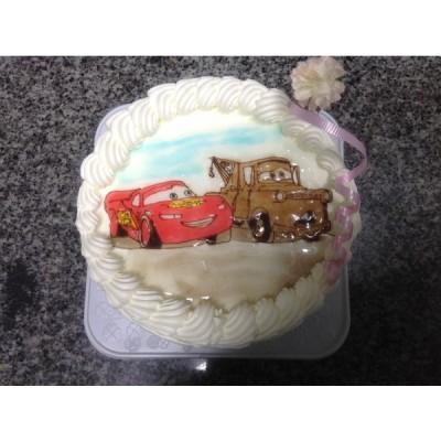 ショートケーキ カー キャラクターケーキデコレーションケーキ 直径21cm10-11名様サイズ