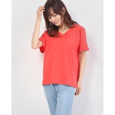 セブンデイズ サンデイ アウトレット SEVENDAYS=SUNDAY outlet VネックTシャツ (Orange)