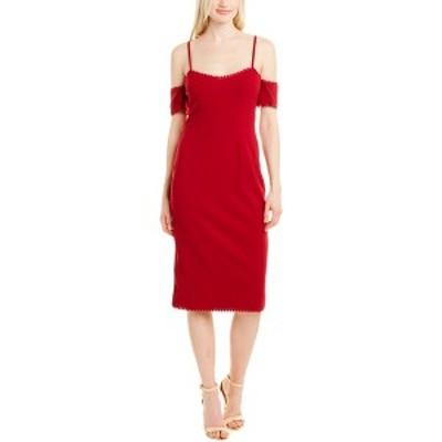 ドレスザポプレーション レディース ワンピース トップス Dress the Population Adrian Sheath Dress garnet