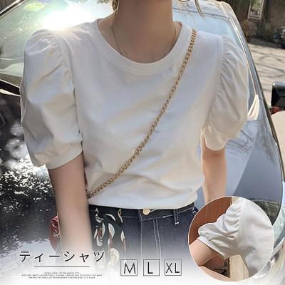 2FA613   半袖 Tシャツ/おしゃれ Tシャツ/体型カバー/レディース 丸袖 トップス ブラウス ラウンドネック