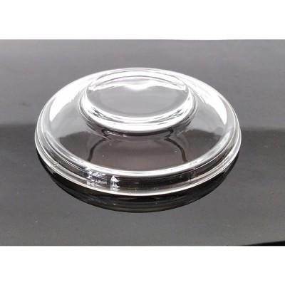 ガラス 耐熱 茶碗蒸し用蓋 無地 1枚 アウトレット むし碗