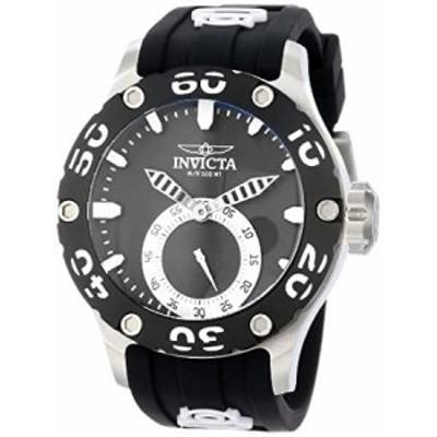 Invicta Mens 12703 Russian Diver Black Dial Black Silicone Watch