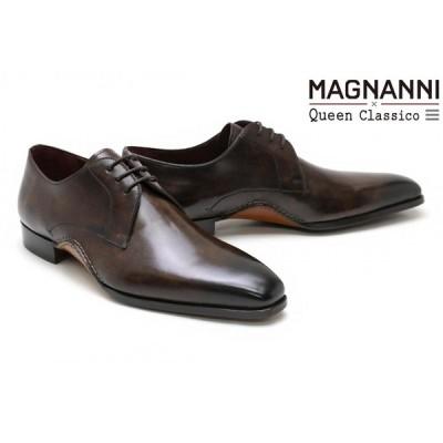 【クインクラシコオリジナルモデル】 マグナーニ / MAGNANNI メンズ ドレスシューズ 23510dbr 外羽根プレーントゥ ダークブラウン スペイン製