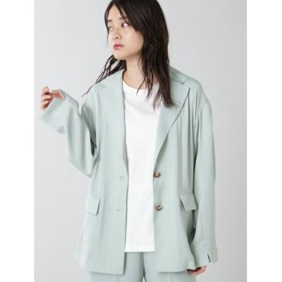 ROSE BUD / サテンジャケット WOMEN ジャケット/アウター > テーラードジャケット