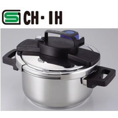 3層底ワンタッチレバー圧力鍋4.0L【パール金属/H-5388】