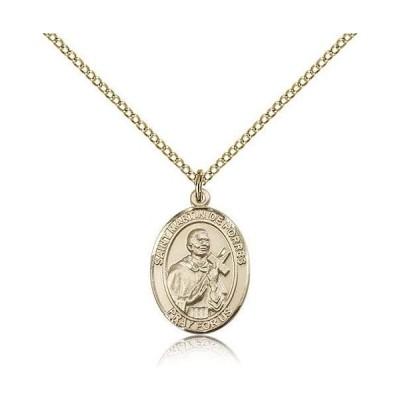 St. Martin De Porres Pendants - Gold Plated St. Martin De Porres Penda
