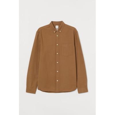 H&M - レギュラーフィット オックスフォードシャツ - ベージュ