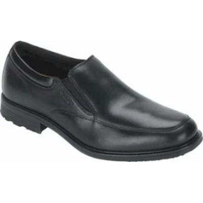 Rockport メンズシューズ Rockport Essential Details Waterproof Slip On Black Leather