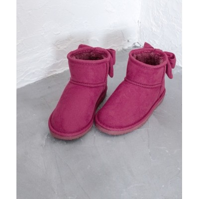 SOROTTO / リボンデザインのショート丈ムートンブーツ KIDS シューズ > ブーツ