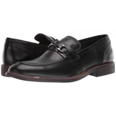 Steve Madden スティーブマデン メンズ 男性用 シューズ 靴 ローファー Bradshaw Black Leather【送料無料】