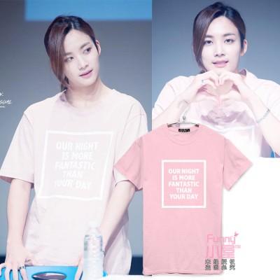 大人気!韓流グッズSEVENTEEN 17 JEONGHANジョンハン同スタイル/日常服 応援グッズ半袖Tシャツ