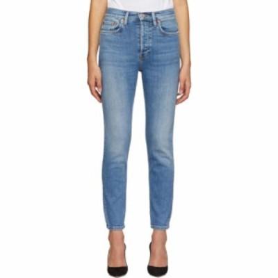 リダン Re/Done レディース ジーンズ・デニム ボトムス・パンツ blue originals high rise ankle crop jeans Worn indigo