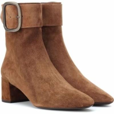 イヴ サンローラン Saint Laurent レディース ブーツ ショートブーツ シューズ・靴 Joplin 50 suede ankle boots Land