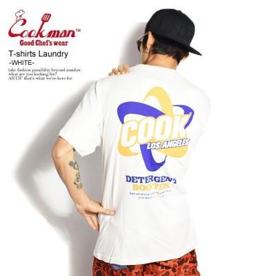COOKMAN クックマン 半袖 Tシャツ tシャツ Tshirts Laundry WHITE メンズ レディース 男女兼用 おしゃれ