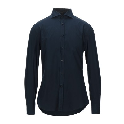 ブルネロ クチネリ BRUNELLO CUCINELLI シャツ ブルー M コットン 100% シャツ