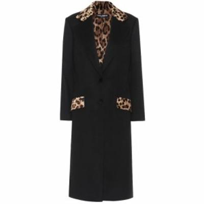 ドルチェandガッバーナ Dolce and Gabbana レディース コート アウター Wool-blend coat Black