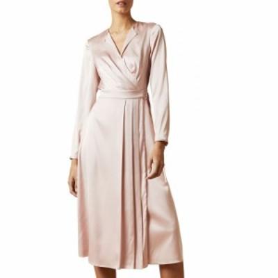 テッドベーカー TED BAKER LONDON レディース ワンピース ラップドレス ワンピース・ドレス Neenha Long Sleeve Wrap Dress Light Pink