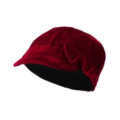 Kids Velvet Newsboy Hat - Red 54CM【並行輸入品】