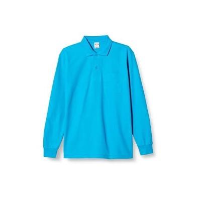 [プリントスター] 5.8オンス TC 鹿の子 長袖 ポロシャツ [ポケット付] 00169-VLP メンズ ターコイズ LL