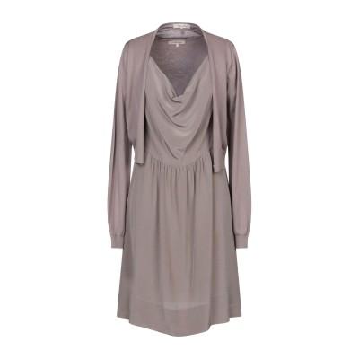 I BLUES ミニワンピース&ドレス ドーブグレー L シルク 55% / コットン 45% ミニワンピース&ドレス