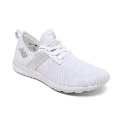 ニューバランス スニーカー シューズ レディース Women's Fuelcore Nergize Iridescent Walking Sneakers from Finish Line White