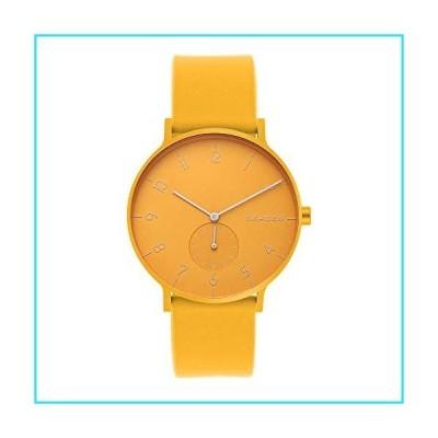 Skagen Men's Aaren Quartz Analog Stainless Steel and Silicone Watch, Color: Yellow (Model: SKW6510)【並行輸入品】