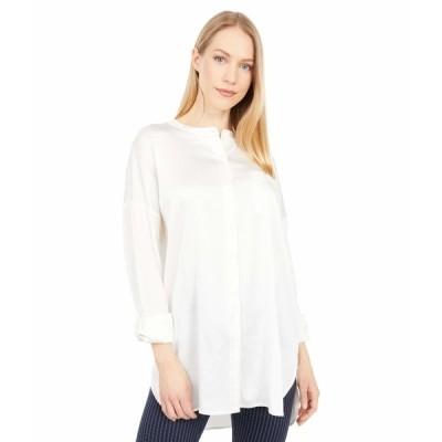 リジー シャツ トップス レディース The Eco Satin Shirt Off-White