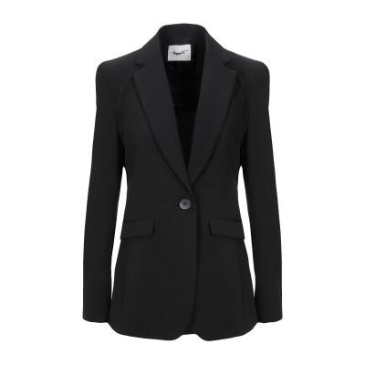 HAPPY25 テーラードジャケット ブラック 44 ポリエステル 89% / ポリウレタン 11% テーラードジャケット